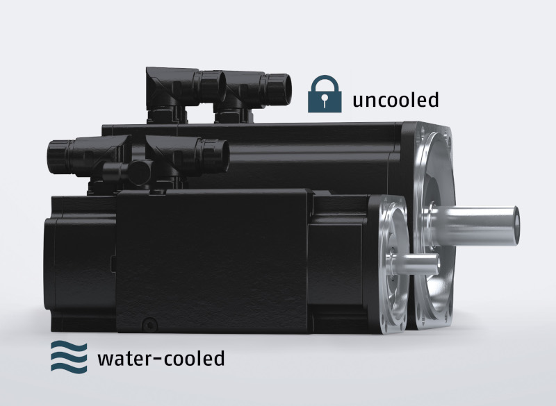 Double power with the same dimensions, thanks to water-cooling
