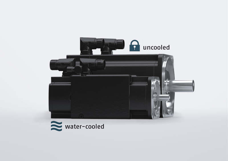 Water-cooled vs. uncooled servomotor