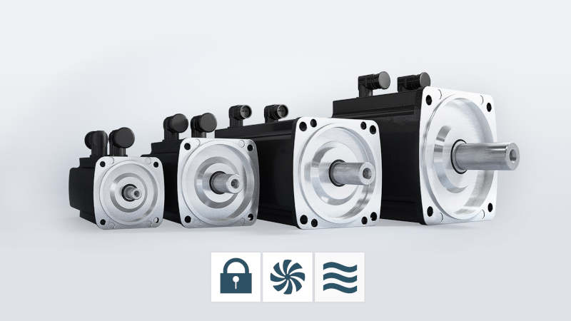 Cooling types servomotors