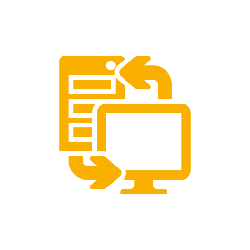 icon planung gelb